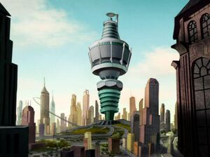 Animated cartoon Sumdac Tower