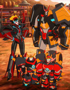 Windblade, Drift, Jetstorm and Slipstream