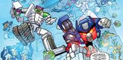 Angry Birds Transformers Issue 3 Autobirds and Deceptihogs Together