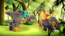 Hoist and Grimlock with Sludge and Snarl