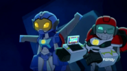 Whirl and Medix's rescue mission in the cave.