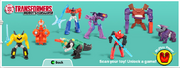 Transformers Robots in Disguise Happy Meal Toys