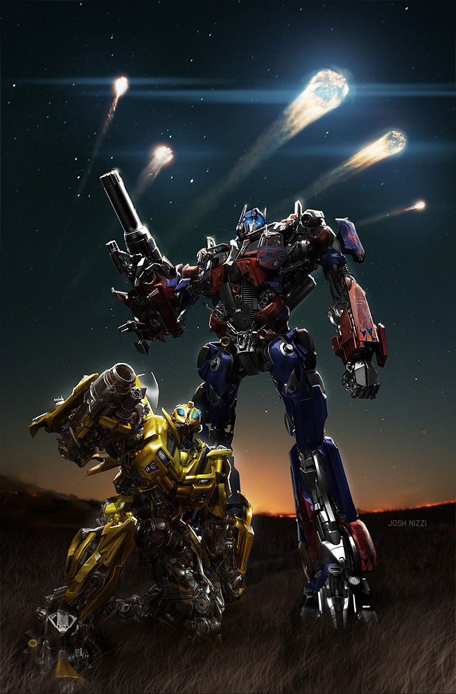 Transformers Optimus y Bumblebee