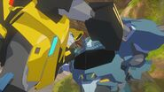 Bumblebee and Steeljaw Whereas the Stasis Pods