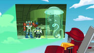 Heatwave and Photo of Chase, Optimus and Energon eater