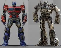 Optimus prime (flat nose truck) comparison