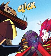 Robots in Disguise Issue 3 Clipshade Impresses Sideswipe