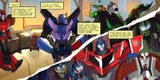 Robots in Disguise issue 01 Bumblebee Compares His Teams