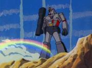 SOS Dinobots Megatron and Rainbow