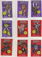 Transformers Milk Chocolate Wrappers