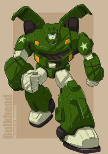 Bulkhead Animated G1 color by bokuman