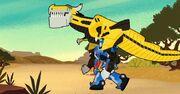 How to Ride Your Dinobot Ep2 Grimlock on Optimus