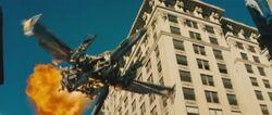 Movie Megatron jetmode cityfight