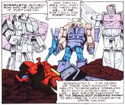 Crater Critters 2 Astrotrain Blitzwing and Octane Tell Blaster about Scraplets