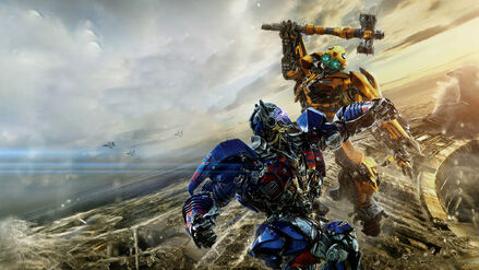 The Last Knight Optimus vs Bumblebee Banner