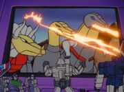 War of the Dinobots Megatron Watches the Dinobots