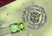 Rescue Bots Land Before Prime Boulder Makes Art