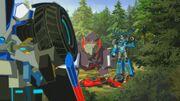 Robots in Disguise Battlegrounds 1 Strongarm and Sideswipe Meet Thunderhoof and Underbite