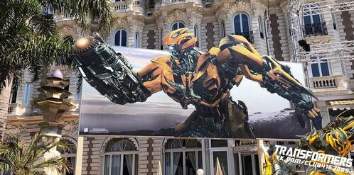 The Last Knight Cannes Bumblebee Banner