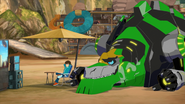 Grimlock and Russell in Scrapyard