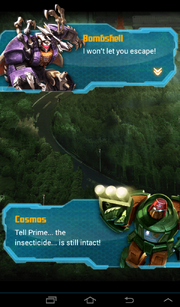 Transformers Rising Quest for Survival Cosmos and Bombshell