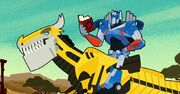 How to Ride Your Dinobot Ep2 Optimus on Grimlock with a Book