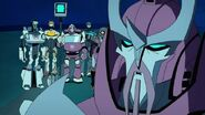 Ratchet, Captain Fanzone, Alpha Trion, Jazz, Jetstorm and Jetfire
