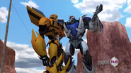 Tfp bumblebee and smokescreen by flyscream-d5o3s4m