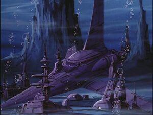 G1 cartoon Decepticon underwater base