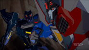 Shadelock and Starscream (Mighty Big Trouble)