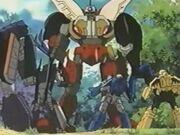 Beast Wars II Tripledacus vs Predacons