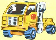 Transformers Universe Book Huffer Vehicle Mode