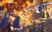 War for Cybertron Comic Optimus and Megatron