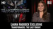 Laura Haddock talks Transformers The Last Knight