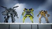 Ironhide, Ratchet und Bumblebee in Decepticons Attack