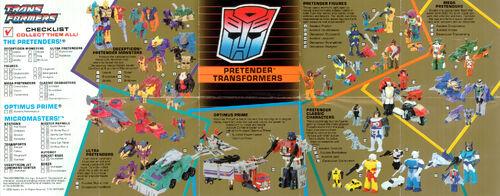 Transformers 1989 USA Catalog Pretenders