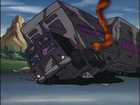 G1 cartoon Motormaster slagged