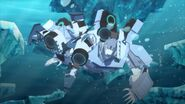 Sideswipe tackling Polar Claw underwater