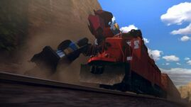 Convoy screenshot Optimus stops train