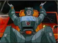 Kup waving arms