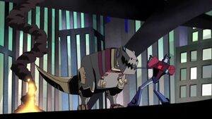 Animated Black Friday Grimlock Prime lasso