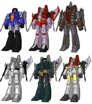 "Mini G1 F15 Team Decepticons Starscream Thundercracker Skywarp 4/"" Action Figure"