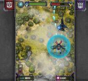 Decepticon Strike Optimus Fights Dreadwing