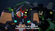 Grimlock puhuu Steeljaw'sta