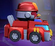 Angry Birds Transformers Heatwave Vehicle Mode