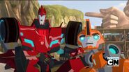 Fixit and Sideswipe (Rumble in the Jungle)