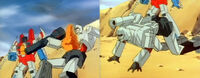 SOSDinobots Megatron falls