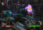 Cybertron Adventures Autobot Level 3 Ironhide and Bumblebee Fighting Together