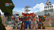 Optimus with Drift, Windblade, Ratchet and Jazz