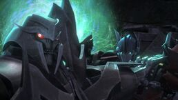 One shall rise part 3 screenshot Megatron and Orion